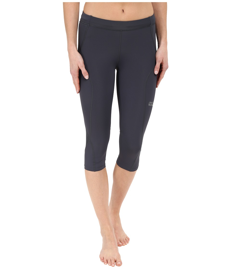 Jack Wolfskin - Passion Trail 3/4 Tights (Ebony) Women's Casual Pants