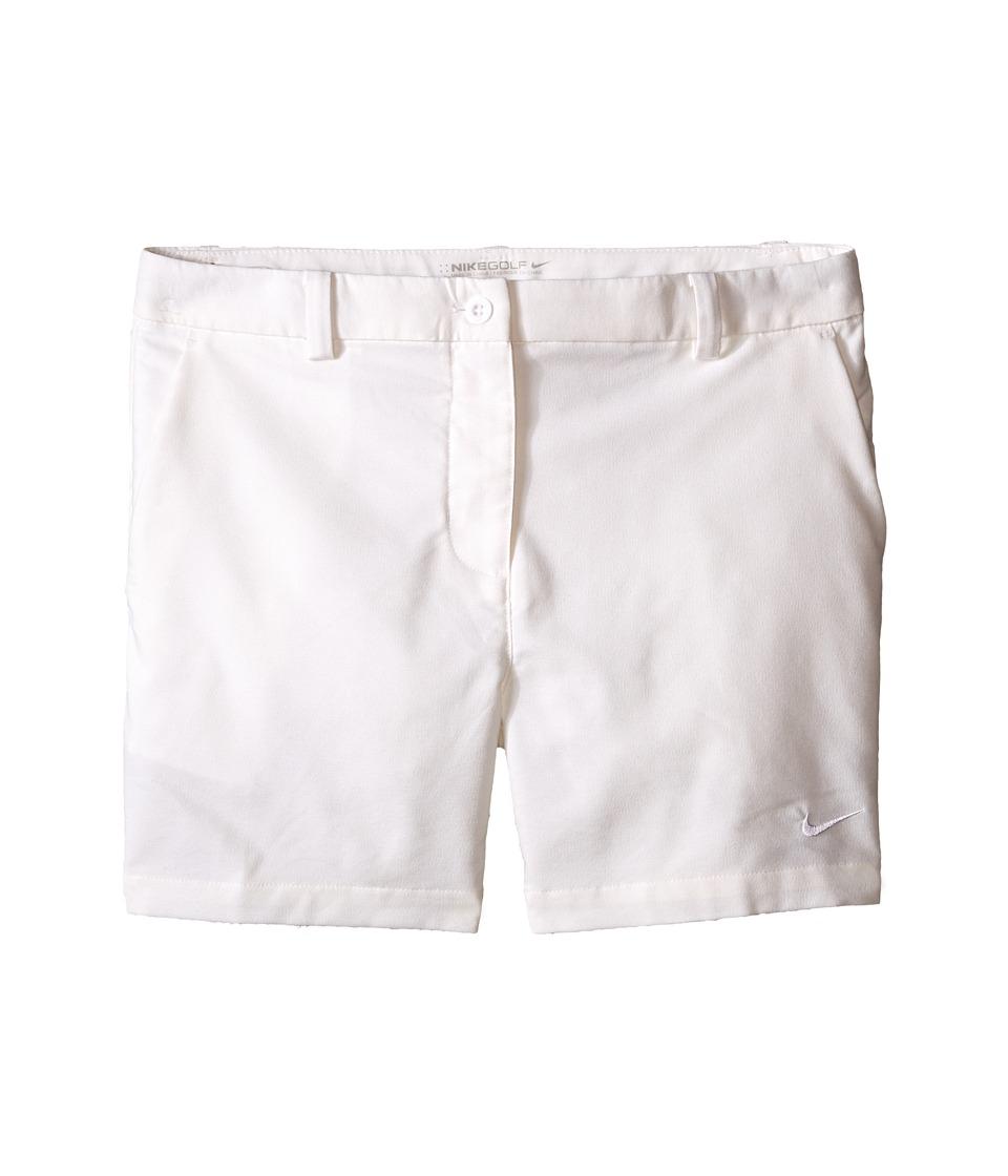 Nike Kids - Golf Shorts (Little Kids/Big Kids) (White/White) Girl's Shorts
