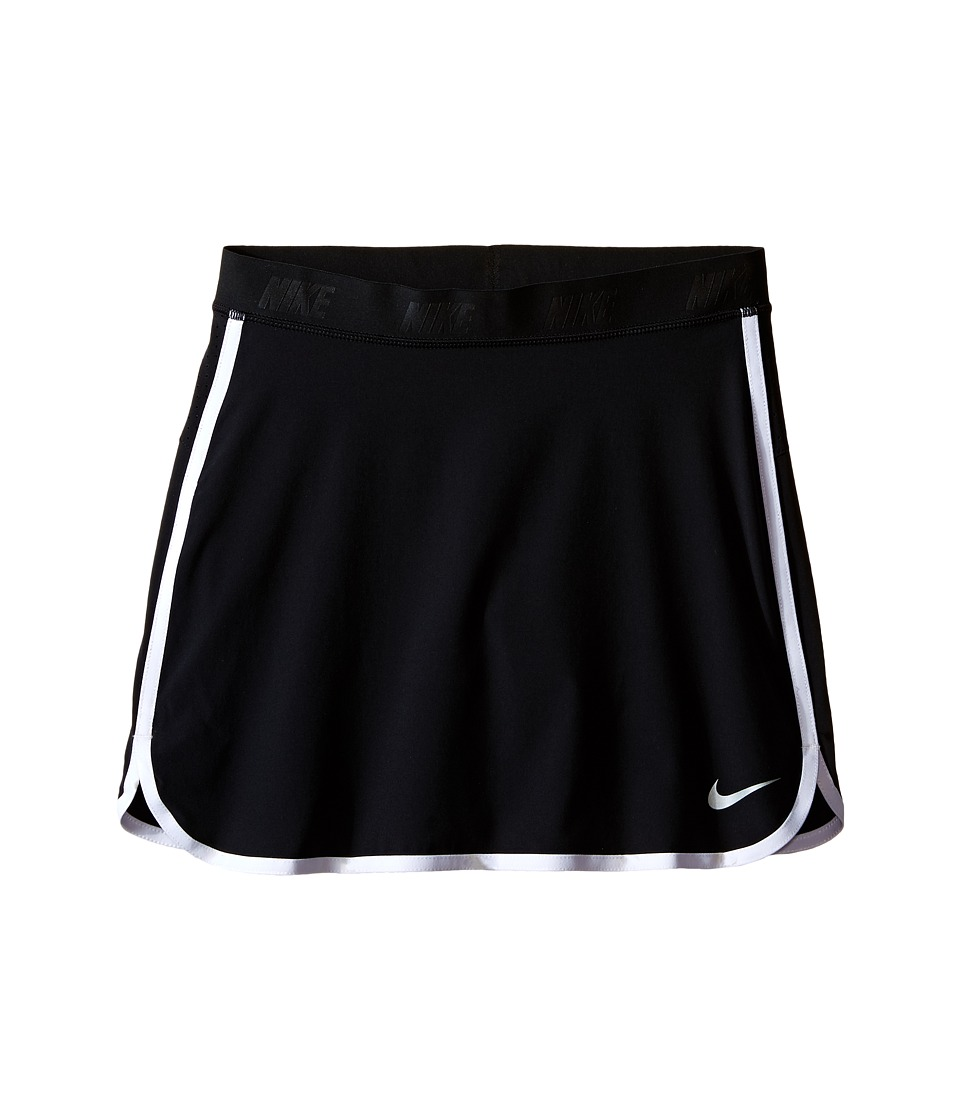 Nike Kids - Golf Skort (Little Kids/Big Kids) (Black/White/Metallic Silver) Girl's Skort