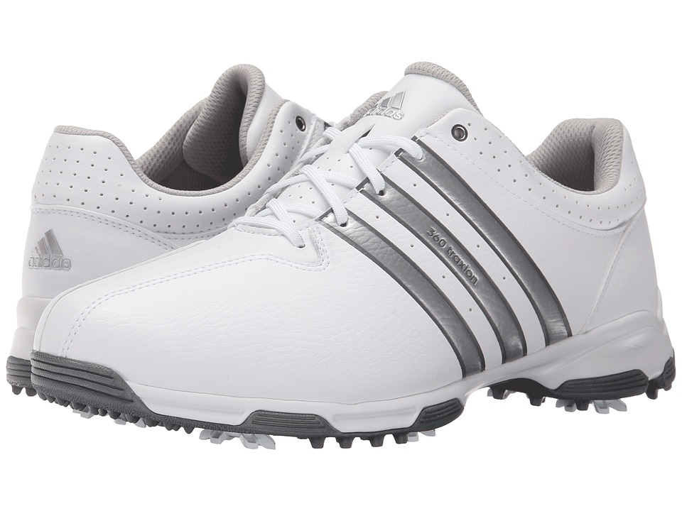 adidas Golf - 360 Traxion Nwp (Ftwr White/Silver Metallic/Dark Silver Metallic) Men's Shoes