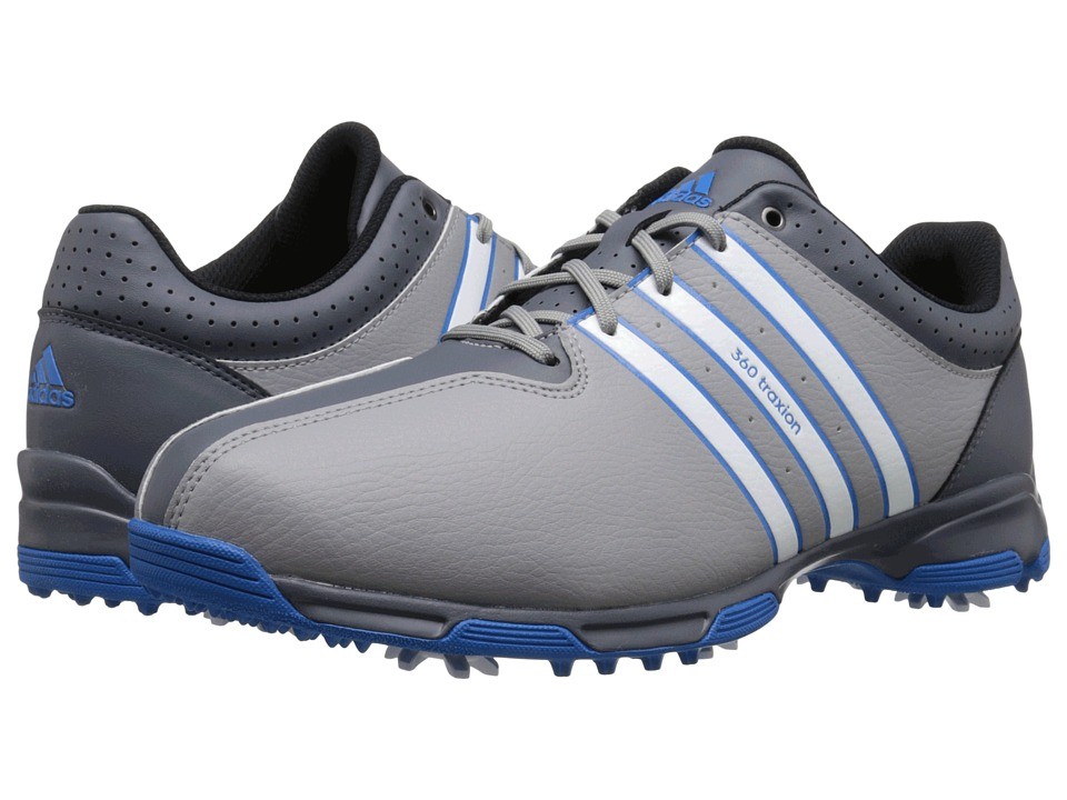 adidas Golf - 360 Traxion Nwp (Light Onix/Ftwr White/Shock Blue) Men's Shoes