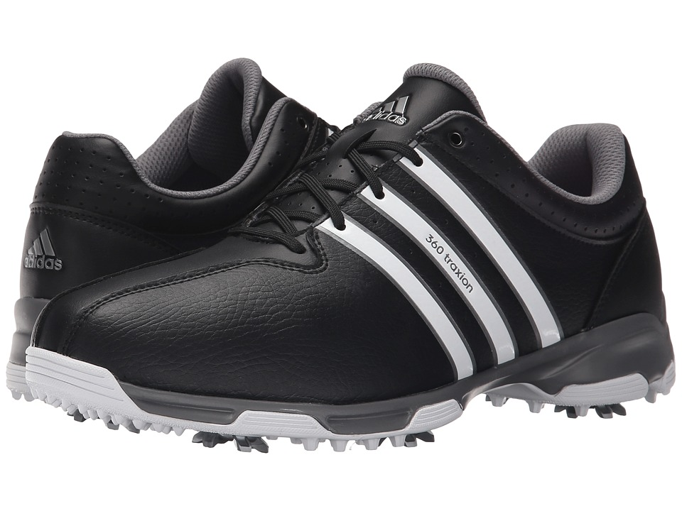 adidas Golf - 360 Traxion Nwp (Core Black/Ftwr White/Iron Metallic) Men's Shoes