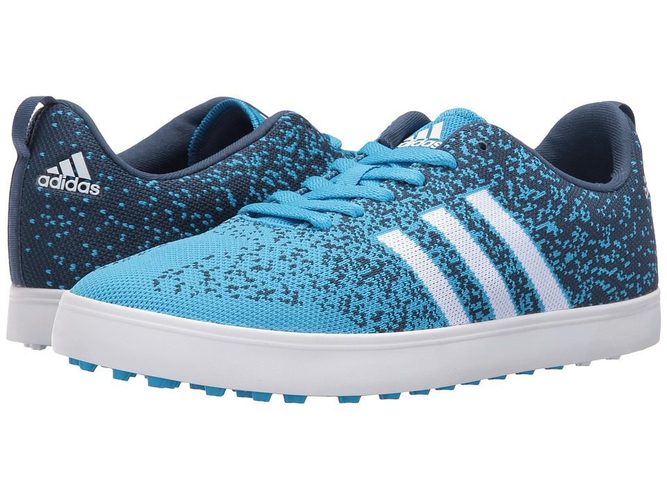adidas Golf - Adicross Primeknit (Cyan/Ftwr White/Mineral Blue) Men's Golf Shoes
