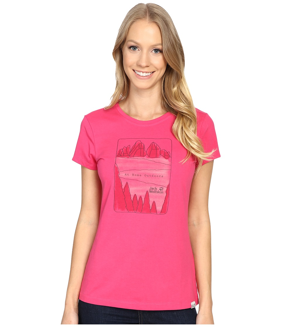 Jack Wolfskin - Valley T-Shirt (Pink Raspberry) Women's T Shirt