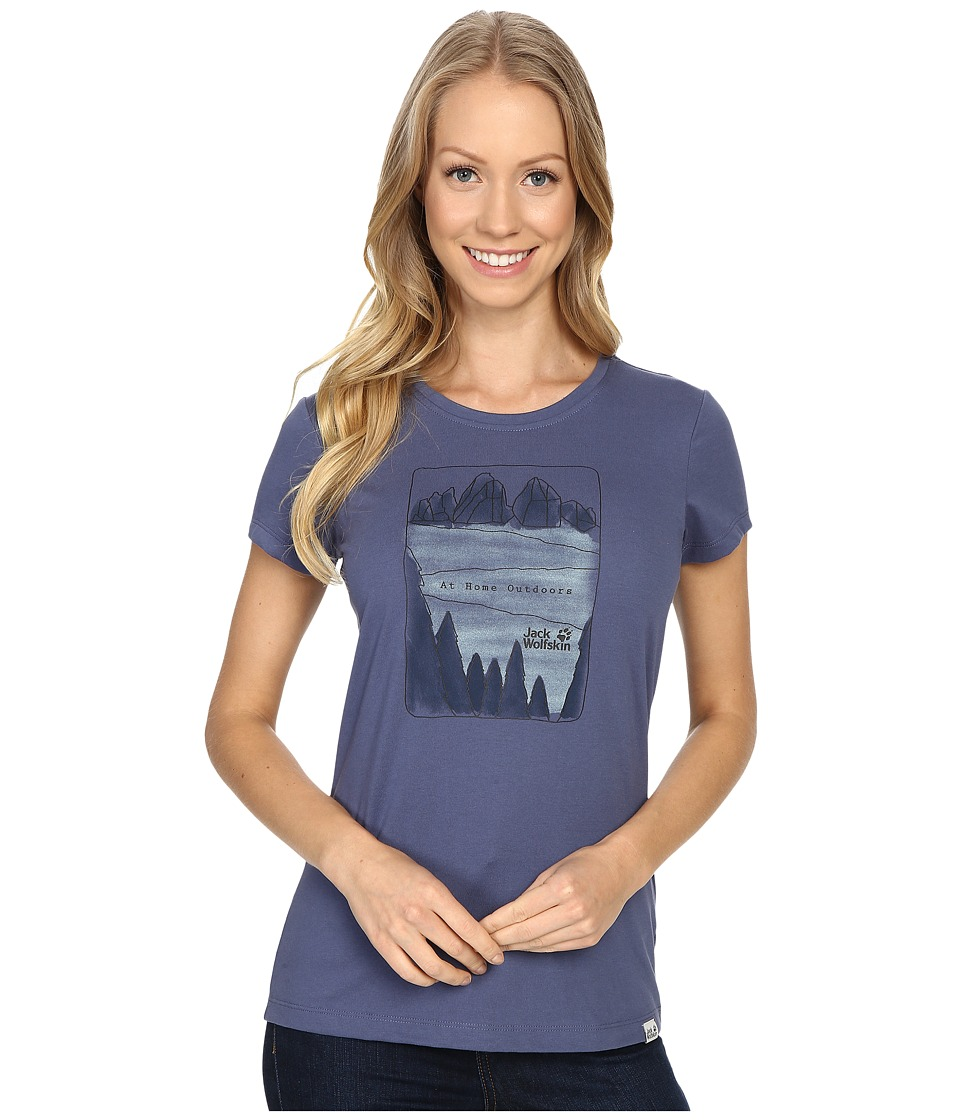 Jack Wolfskin - Valley T-Shirt (Blue Indigo) Women's T Shirt