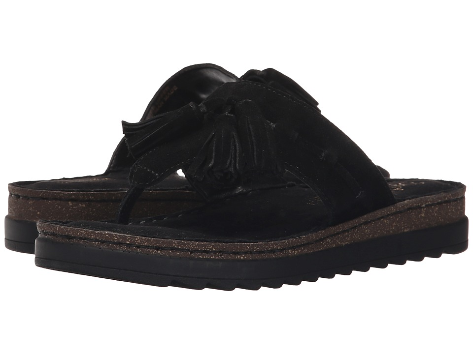 Seychelles - Ahead (Black Suede) Women's Sandals