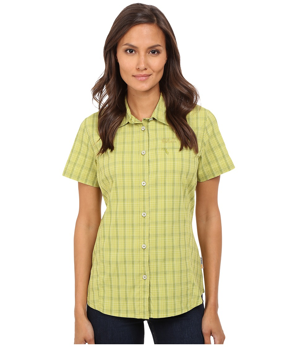 Jack Wolfskin - Centaura Stretch Vent Shirt (Green Guacamole Checks) Women's Clothing