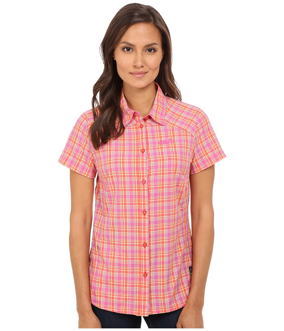 Jack Wolfskin - Rock Chill Flex Shirt (Pink Lemonade Checks) Women's Clothing