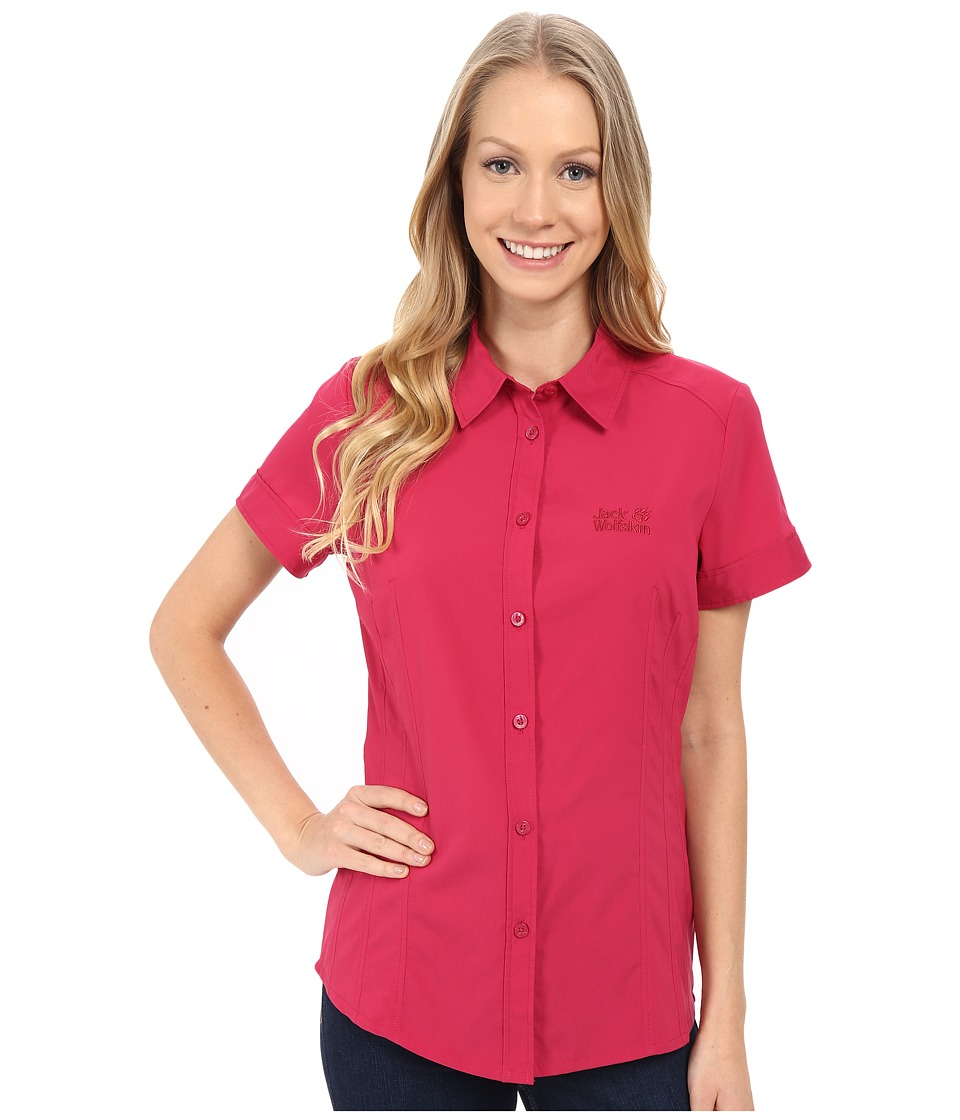 Jack Wolfskin - Track Shirt (Azalea Red) Women's Clothing