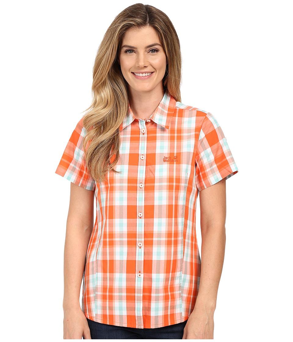 Jack Wolfskin Aoraki Shirt (Watercress Blossom Checks) Women