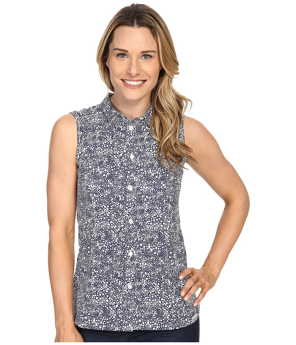 Jack Wolfskin - Wahia Print Sleeveless Shirt (Blue Indigo All Over) Women's Sleeveless