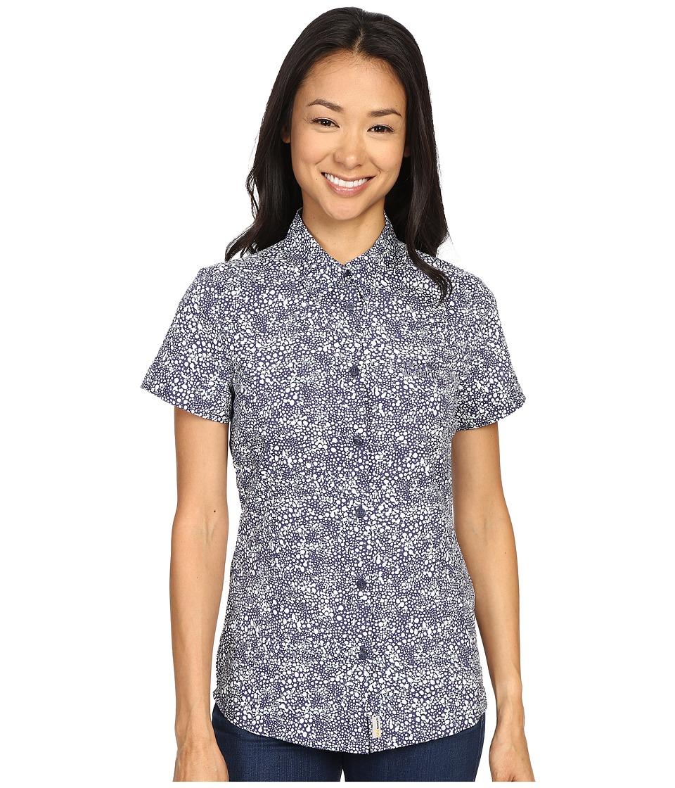 Jack Wolfskin - Wahia Print Shirt (Blue Indigo All Over) Women's Clothing