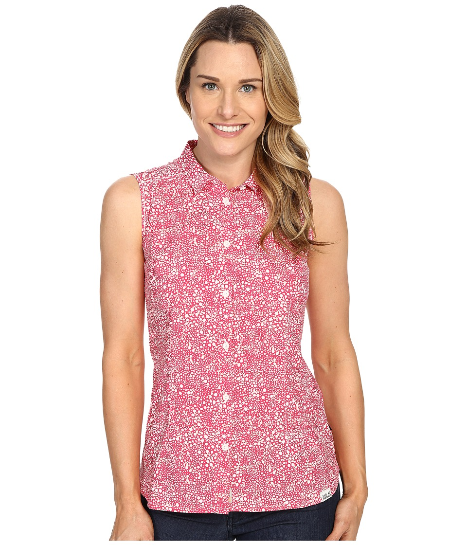 Jack Wolfskin Wahia Print Sleeveless Shirt (Pink Raspberry All Over) Women