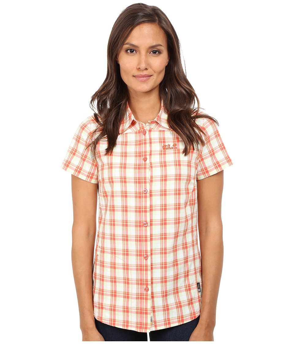 Jack Wolfskin - Rock Chill Flex Shirt (Watercress Blossom Checks) Women's Clothing