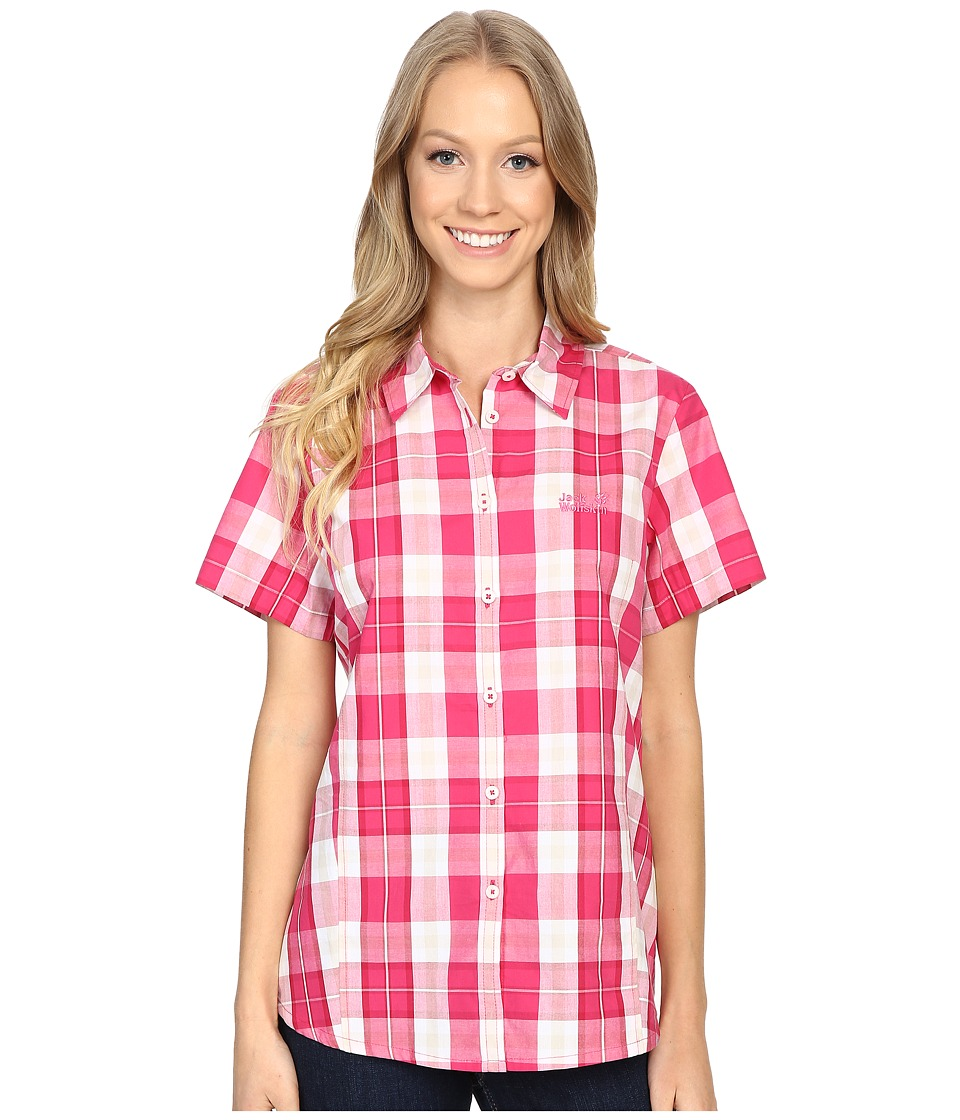 Jack Wolfskin - Aoraki Shirt (Pink Raspberry Checks) Women's Clothing