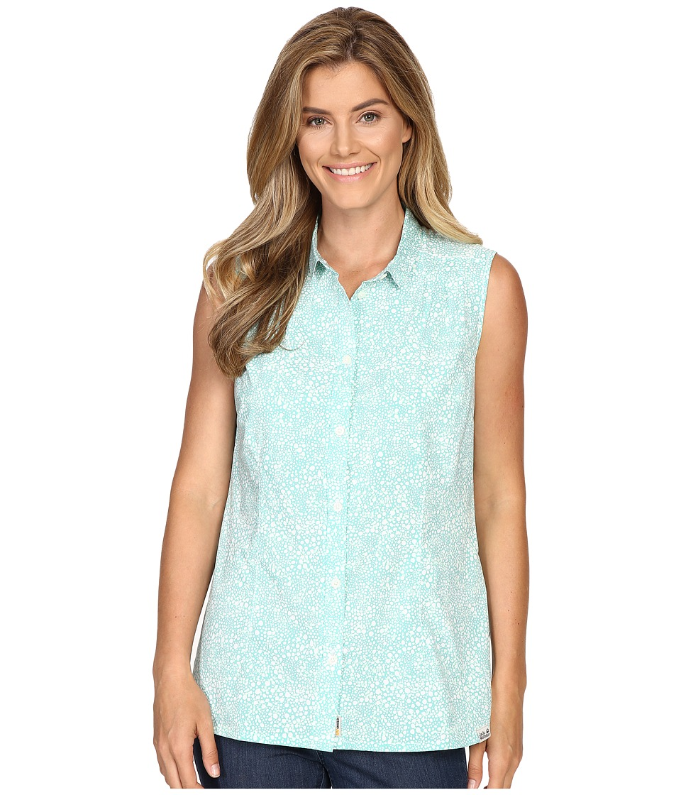 Jack Wolfskin - Wahia Print Sleeveless Shirt (Pool Blue All Over) Women's Sleeveless