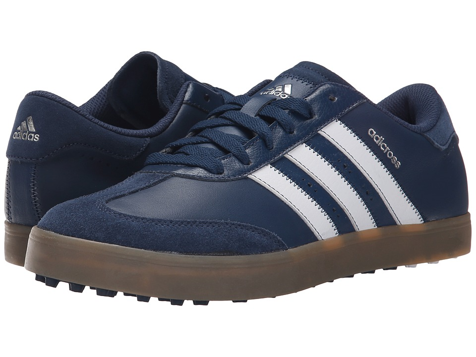 adidas Golf - Adicross V (Mineral Blue/Ftwr White/Gum 4) Men's Golf Shoes