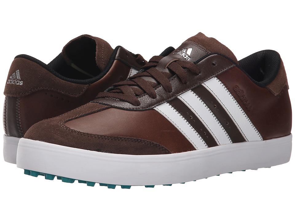 adidas Golf - Adicross V (Brown/Ftwr White/Eqt Green) Men's Golf Shoes