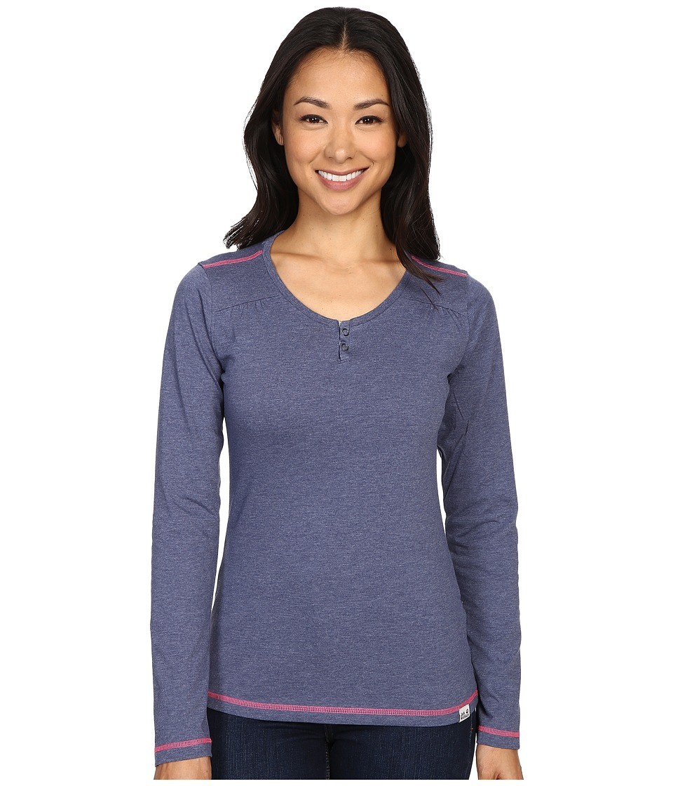 Jack Wolfskin - Heather Long Sleeve (Blue Indigo) Women's Clothing