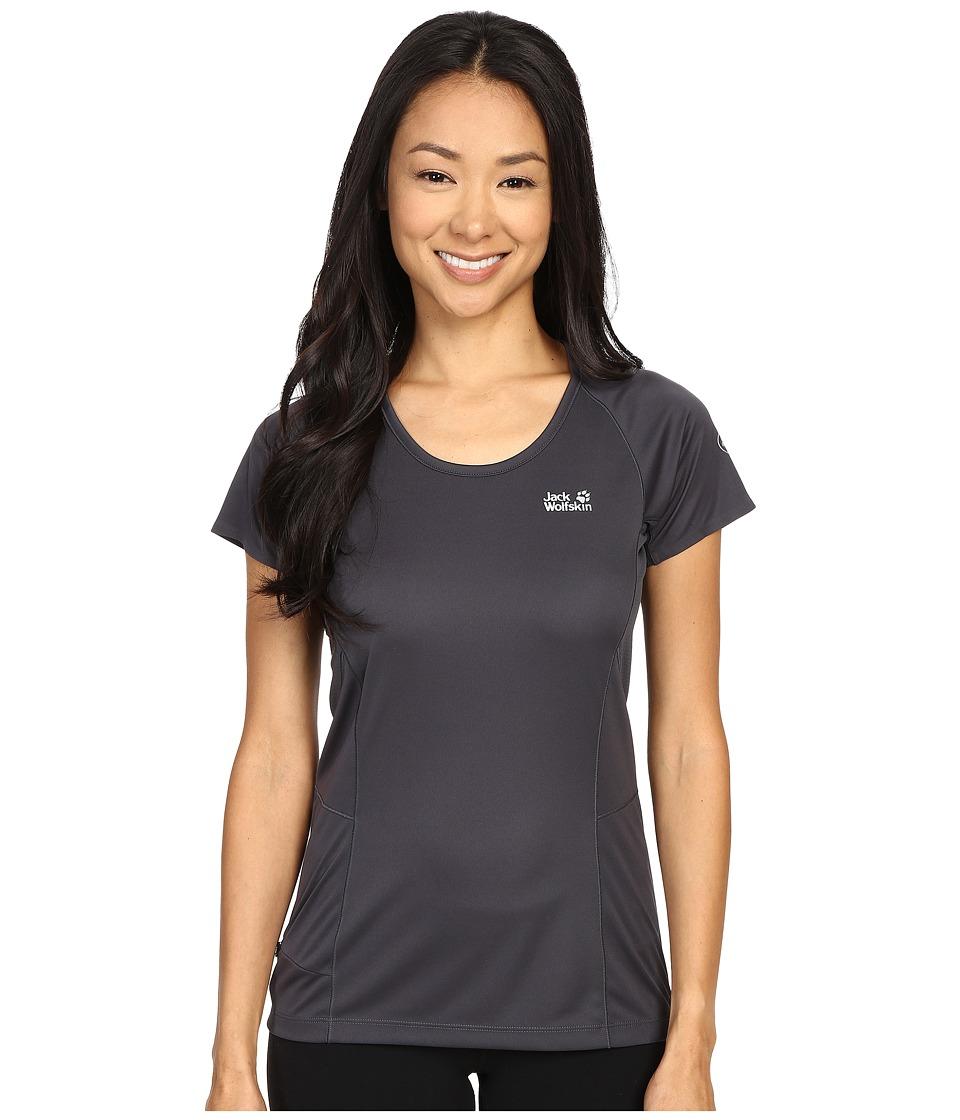 Jack Wolfskin - Passion Trail Crew Neck Tee (Ebony) Women's T Shirt