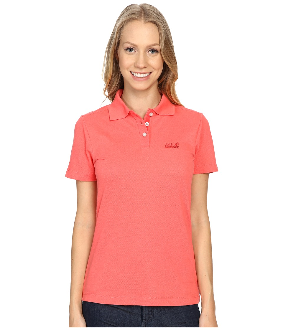 Jack Wolfskin - Pique Function 65 Polo (Grapefruit) Women's Clothing