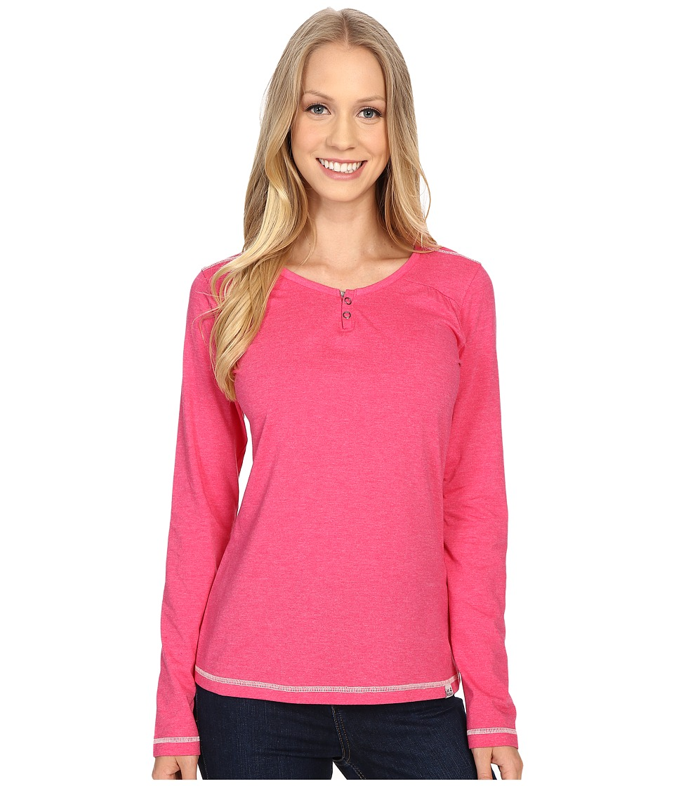 Jack Wolfskin - Heather Long Sleeve (Pink Raspberry) Women's Clothing