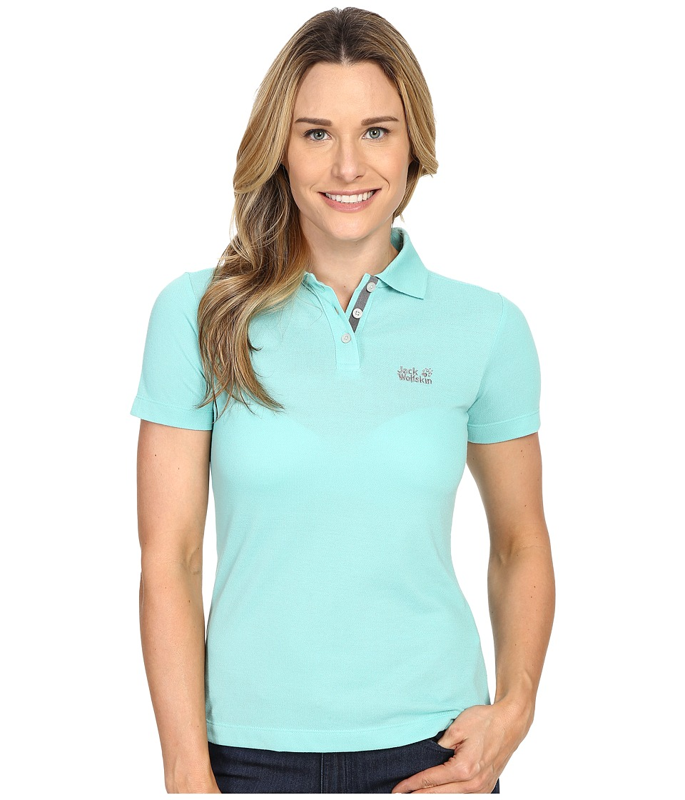 Jack Wolfskin - Pique Function 65 Polo (Pool Blue) Women's Clothing