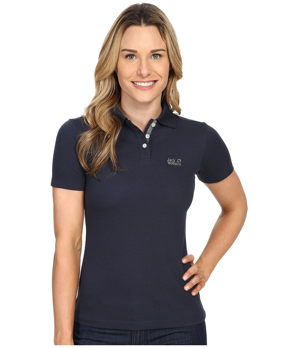 Jack Wolfskin - Pique Function 65 Polo (Night Blue) Women's Clothing