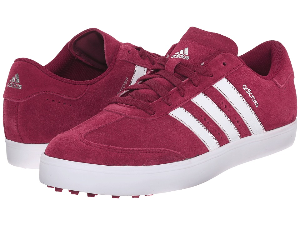 adidas Golf Adicross V (Collegiate Burgundy/Ftwr White/Ftwr White) Men