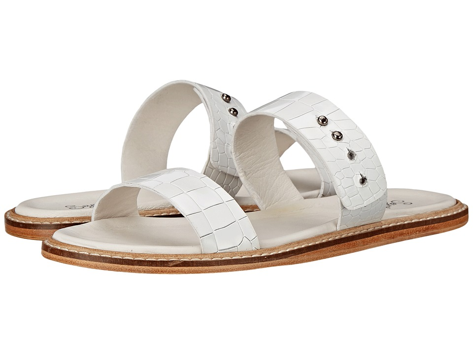 Seychelles - Interstate (White Croco) Women's Slide Shoes