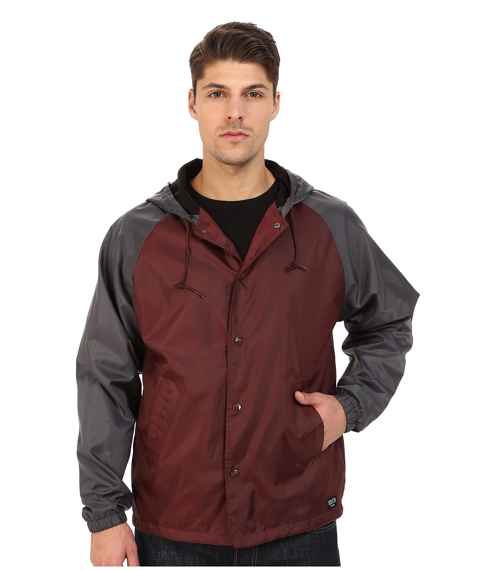 Brixton - Hoover Jacket (Burgundy/Charcoal) Men's Coat