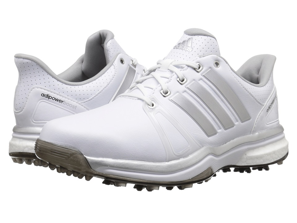 adidas Golf - Adipower Boost 2 (Ftwr White/Silver Metallic/Core Black) Men's Golf Shoes