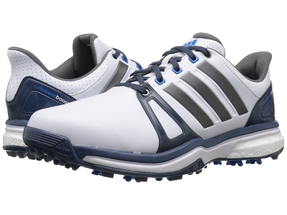 adidas Golf - Adipower Boost 2 (Ftwr White/Mineral Blue/Shock Blue) Men's Golf Shoes