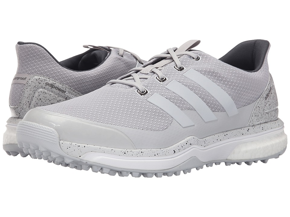 adidas Golf - Adipower S Boost 2 (Light Solid Grey/Light Solid Grey/Ftwr White) Men's Golf Shoes