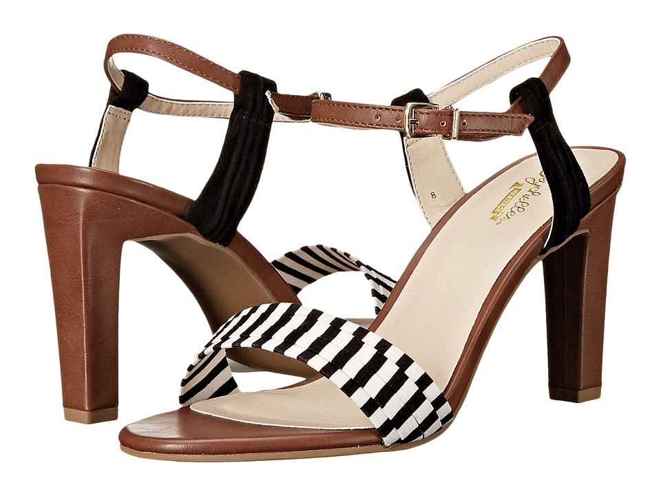 Seychelles - Prime (Black/White Stripe/Whiskey) High Heels