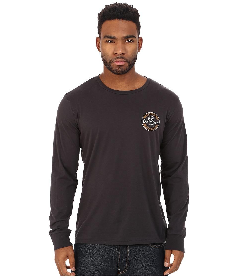 Brixton - Soto Long Sleeve Premium Tee (Washed Black) Men