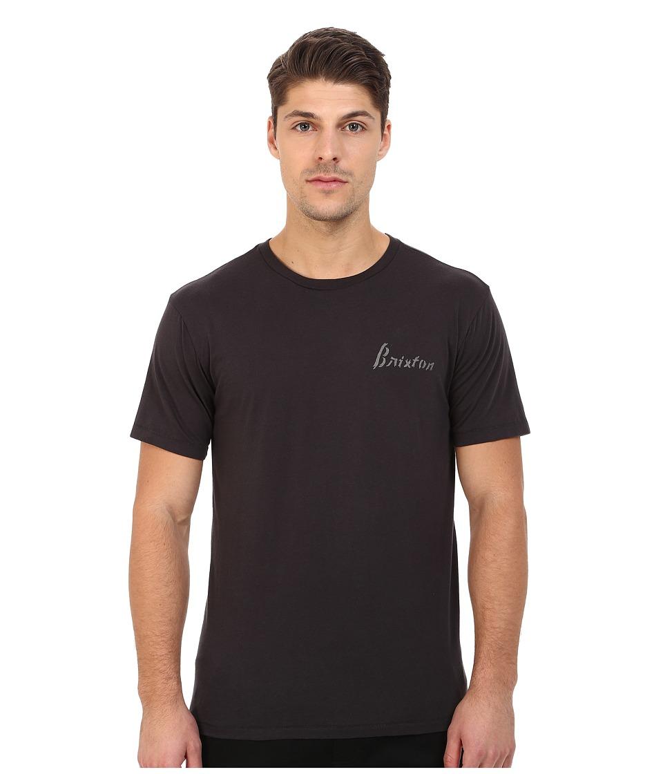 Brixton - Larka Short Sleeve Premium Tee (Washed Black) Men