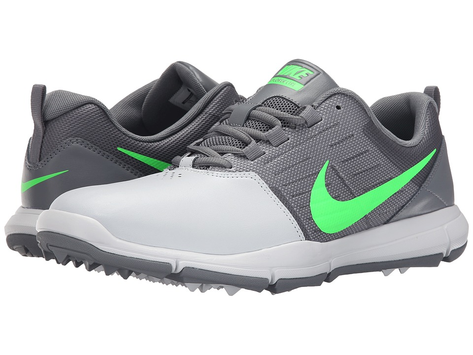 Nike Golf - Explorer SL (Pure Platinum/Green/Cool Grey) Men's Golf Shoes