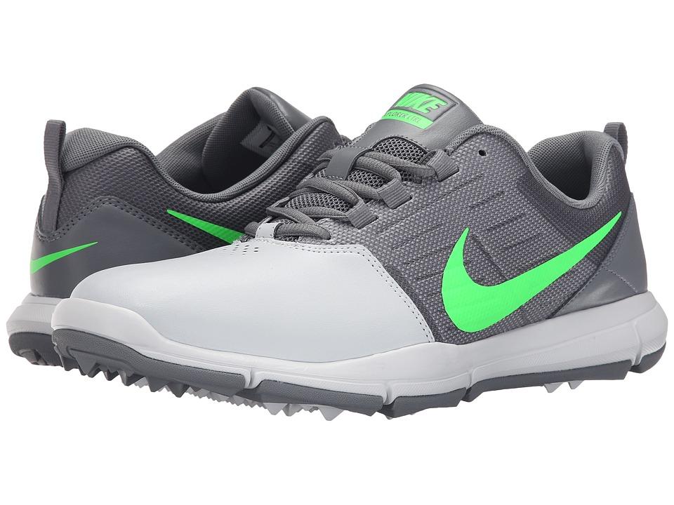 Nike Golf - Explorer SL (Pure Platinum/Green/Cool Grey) Men's Golf Shoes