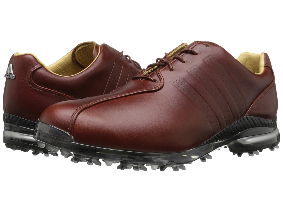 adidas Golf - Adipure Tp (Red Wood-Tmag/Red Wood-Tmag/Dark Silver Metallic) Men's Golf Shoes