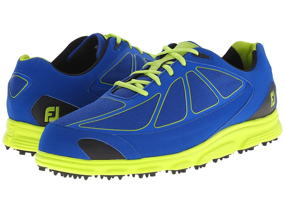 FootJoy - FJ Superlites CT (Dark Blue/Lime) Men's Golf Shoes