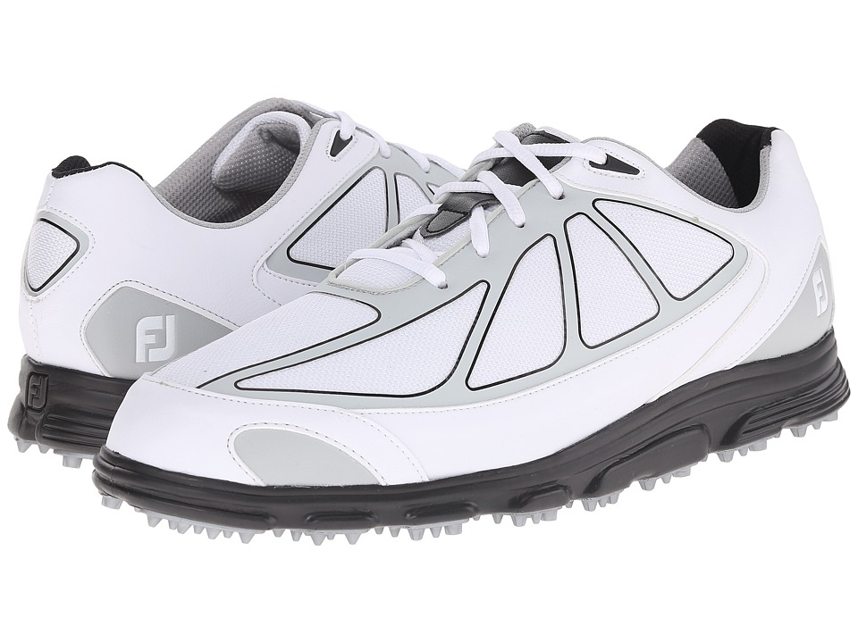 FootJoy - FJ Superlites CT (White/Grey/Black) Men's Golf Shoes