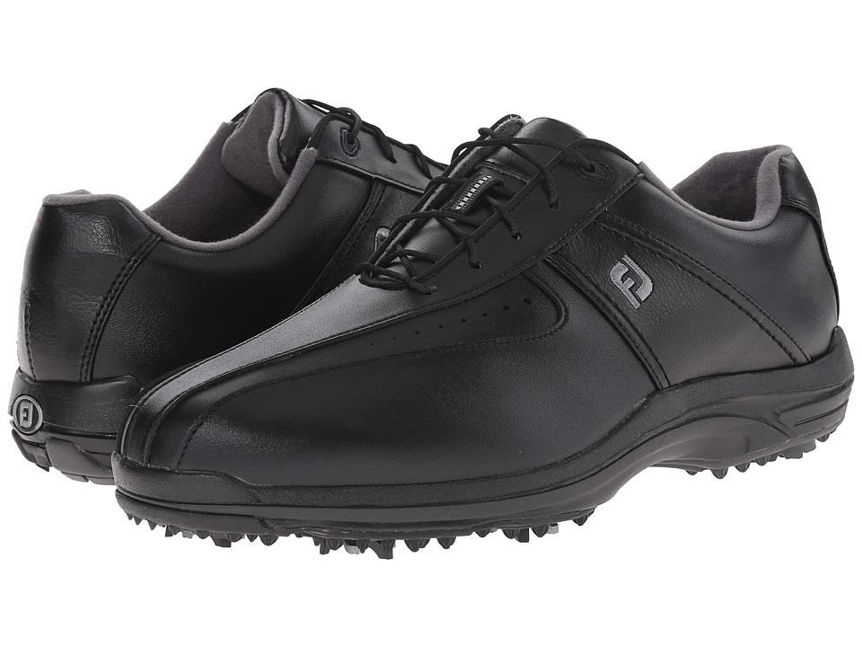 FootJoy - GreenJoys (All Over Black) Men's Golf Shoes