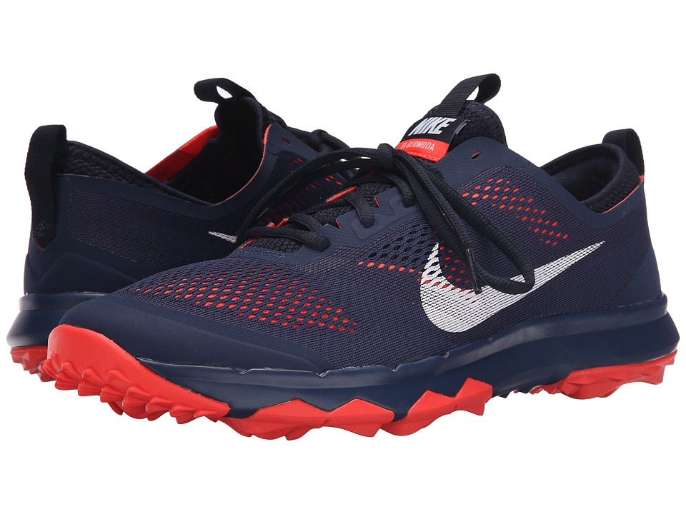 Nike Golf - FI Bermuda (Midnight Navy/White/Bright Crimson) Men's Golf Shoes