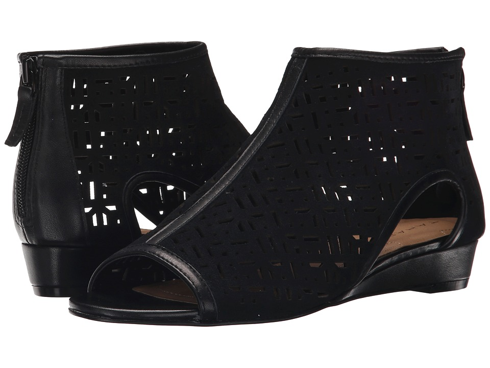 Tahari - Candy (Black Suede) Women's Toe Open Shoes