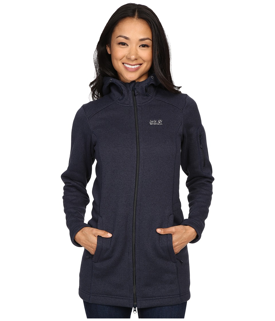 Jack Wolfskin - Caribou Parka (Night Blue) Women's Sweatshirt