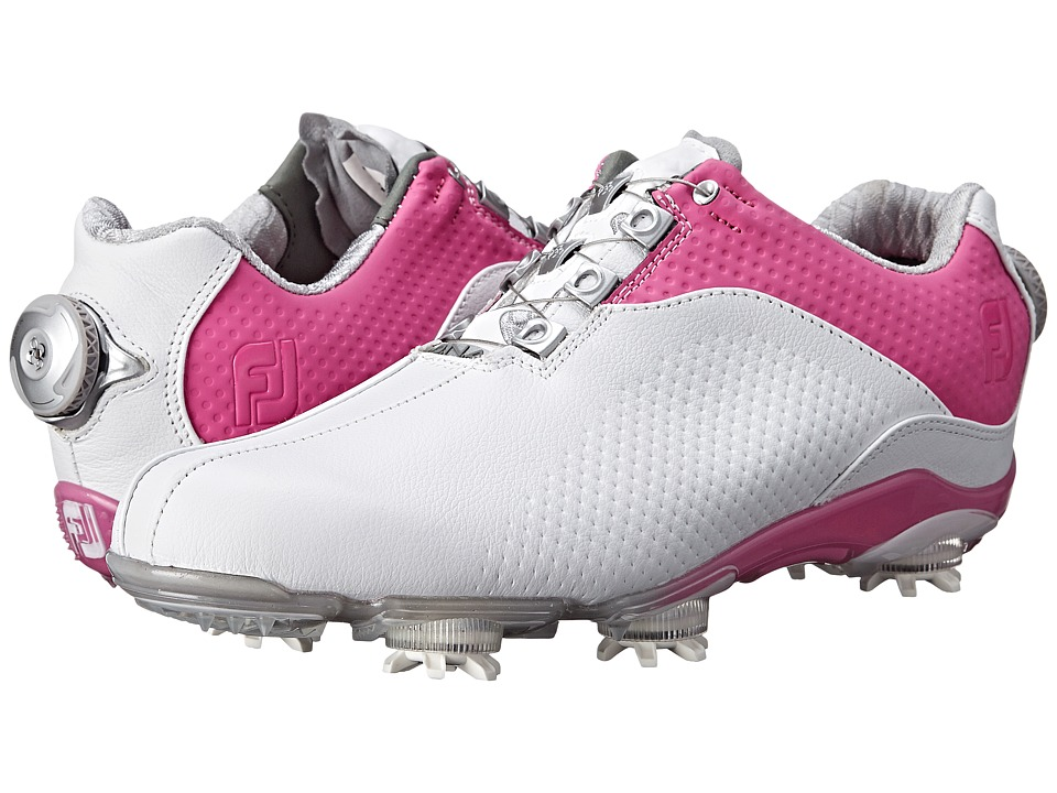 FootJoy - DNA (White/Fuchsia) Women's Golf Shoes