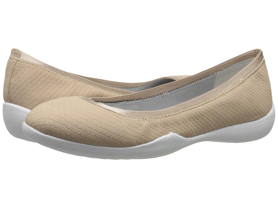 Tahari - Nina (Nude Matte Snake Print) Women's Flat Shoes