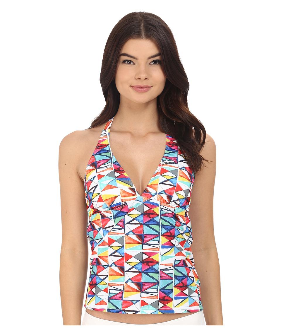 Nautica - Nautica Flags Rem Soft Cup Halter Tankini NA26146 (Multi) Women's Swimwear