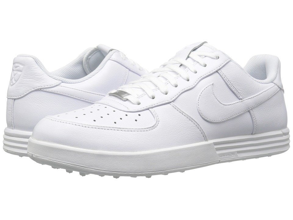 Nike Golf - Lunar Force 1 (White/White/White) Men's Golf Shoes